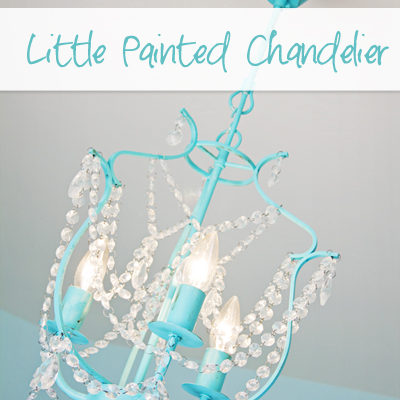 Little Painted Chandelier