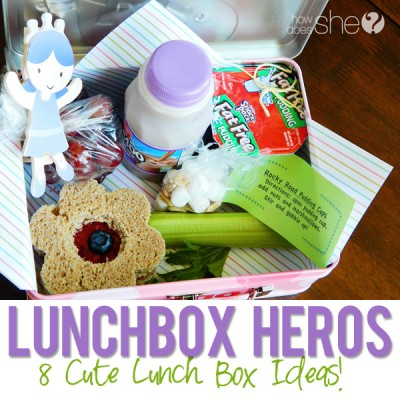 Lunch box heroes: 8 cute lunch ideas