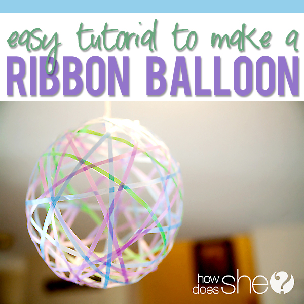 Make your own ribbon balloon decorations for Balloon decoration instructions