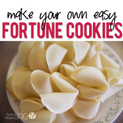 Make Your Own Fortune Cookies!