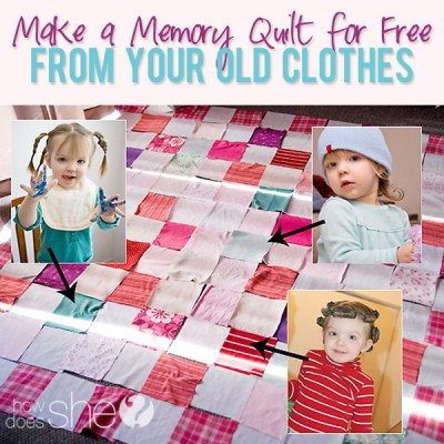 Make a Memory Quilt for Free from Your Old Clothes!