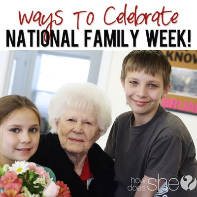 National Family Week.  Free flowers are included.