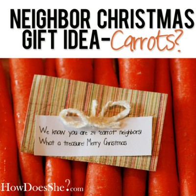 #26 Neighbor Christmas Gift Idea-Carrots