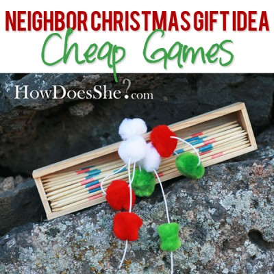 #16 Neighbor Christmas Gift Idea -Cheap Games