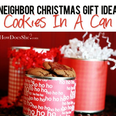 #27 Neighbor Christmas Gift Idea – Cookies in a Can