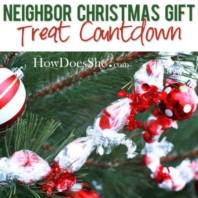 #13 Neighbor Christmas Gift – Treat Countdown