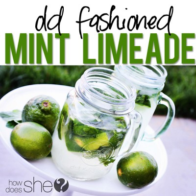 Delicious Old-Fashioned Mint Limeade