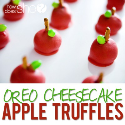 Oreo Cheesecake Apple Truffles