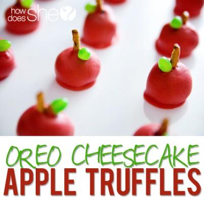 Oreo Cheesecake Apple Truffles