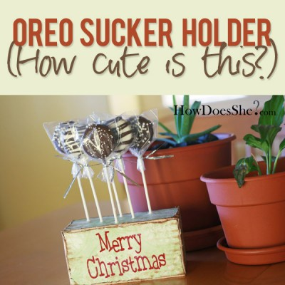 Oreo Sucker Holder!
