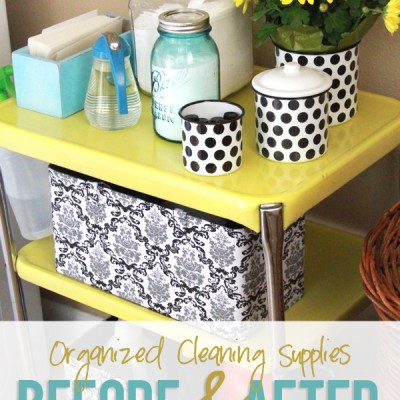 Organized Cleaning Supplies…before and after