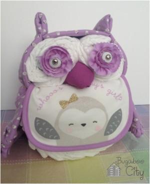 Owl-Diaper-Cake