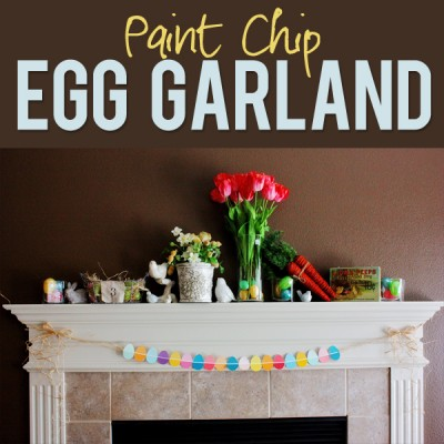 Paint Swatch Easter Egg Garland