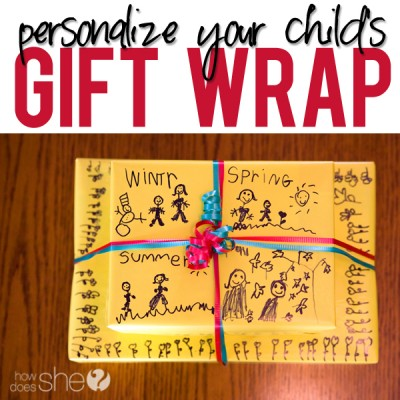 Personalized Gift Wrap for Kids!