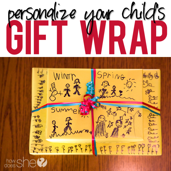 Simple Personalized Gift Wrap for Kids!