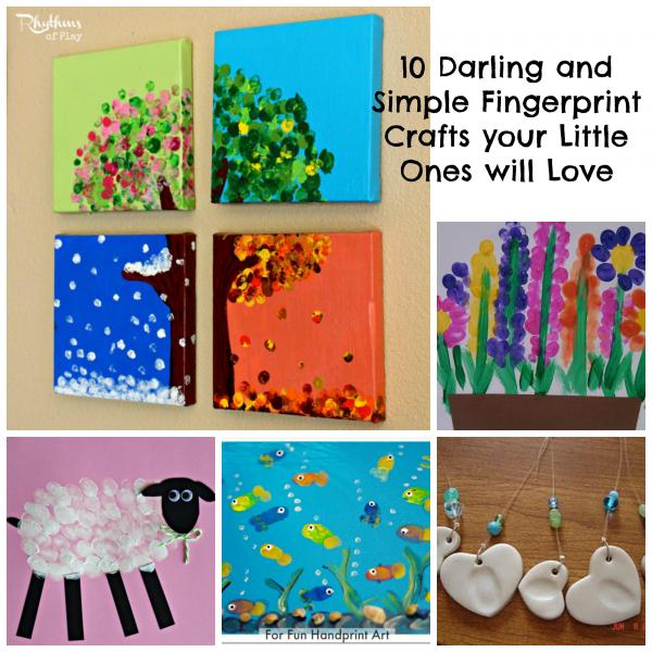Darling and simple Fingerprint crafts