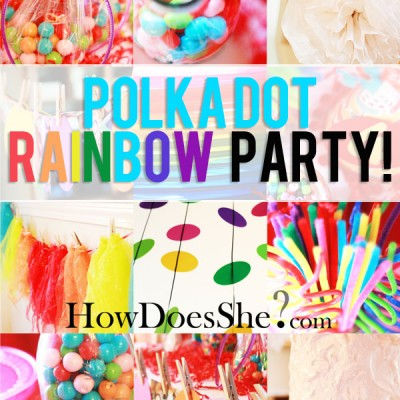 Rainbow Polka-dot Party – real party