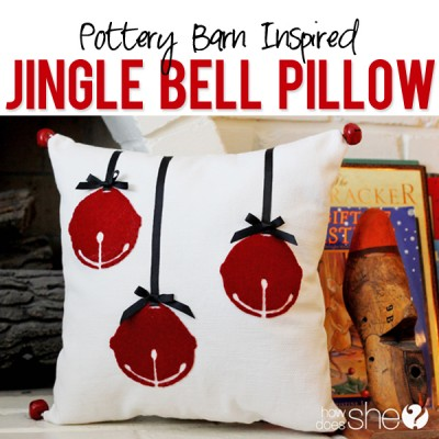 Inspired Jingle Bell Pillow
