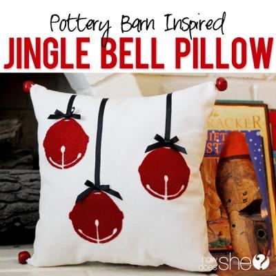 Inspired Jingle Bell Pillow