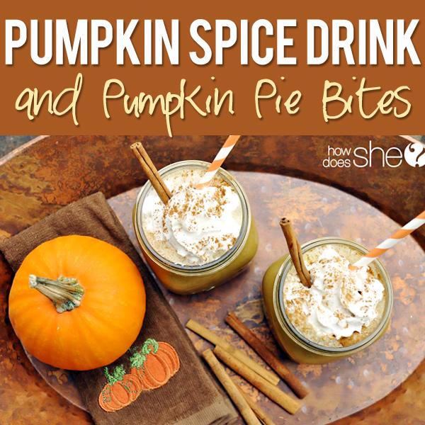 Pumpkin Spice Drink And Pumpkin Pie Bites