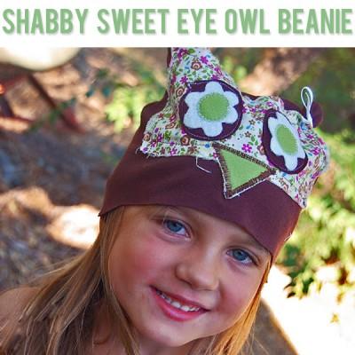 Shabby Sweet Eye Owl Beanie
