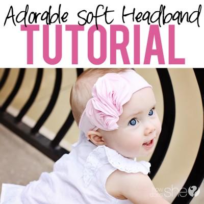 Soft And Comfy! Adorable Flower Headband!Soft Headband Tutorial