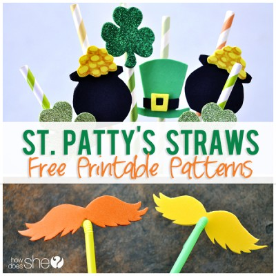St. Patty's Straws and Healthy Snack Ideas