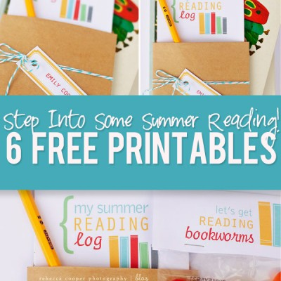 Step Into Some Summer Reading! 6 Free Printables!