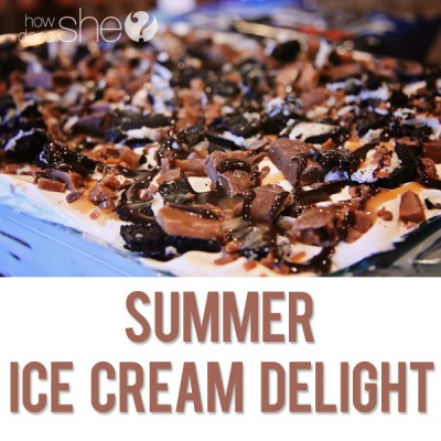 Summer Ice Cream Delight | Ice Cream Sandwich Cake
