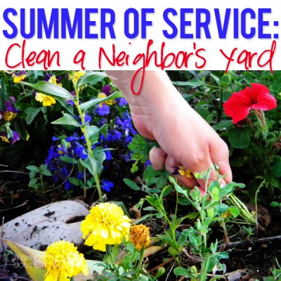 Summer of Service: Clean a Neighbor's Yard
