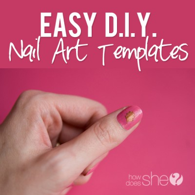 Easy DIY Nail Art Templates!