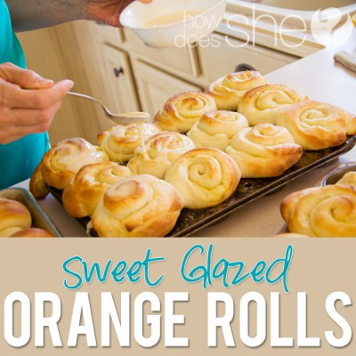 Sweet Glazed Orange Rolls