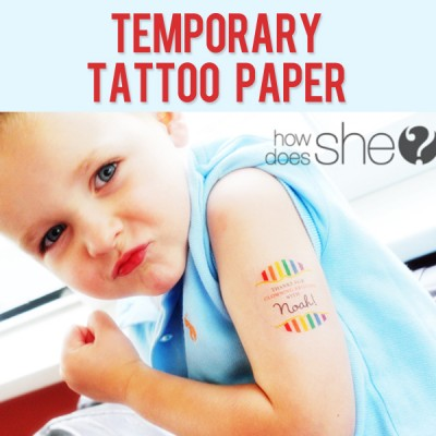 Temporary Tattoo Paper and Silhouette Giveaway!!!