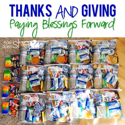 Thanks and Giving – Paying Blessings Forward