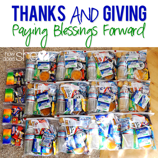 Thanks and Giving   Paying Blessings Forward During Thanksgiving