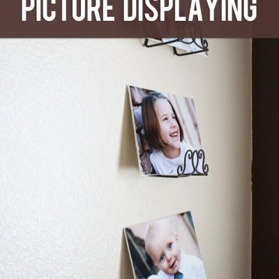 An Idea for Thrifty Family Room Picture Displaying