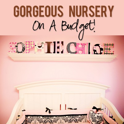 Twins' Nursery on a Budget