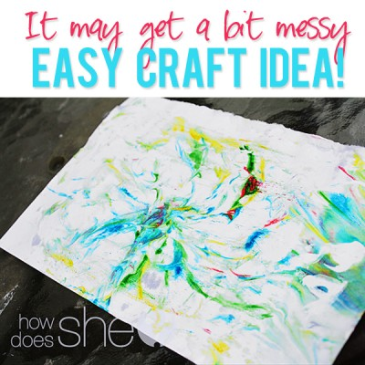 Watch out! It may get a bit messy…Easy Craft Idea