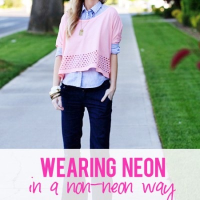 Wearing neon in a non-neon way