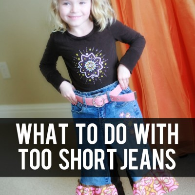 What to do with HOLEY or TOO SHORT jeans…