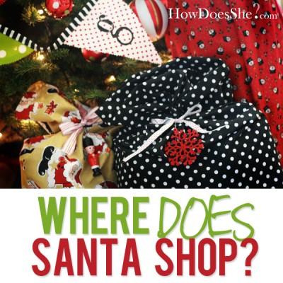 Where does Santa shop?