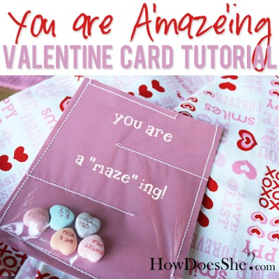 You are A'maze'ing Valentine Card Tutorial