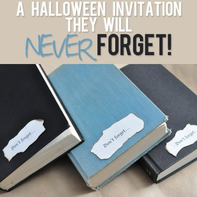 """Don't Forget"" a Halloween invitation!"