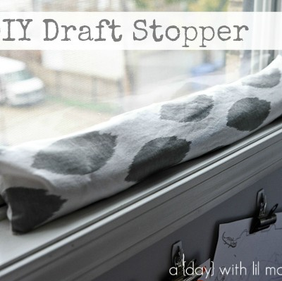 Cute DIY Draft Stopper