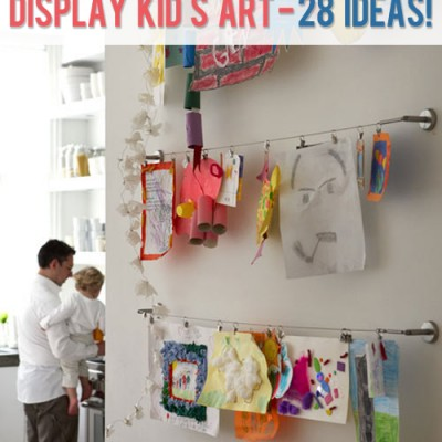 HowDoesShe display kid's art – 28 ideas!