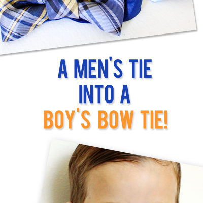 DIY: Make a Bow Tie From a Men's Necktie