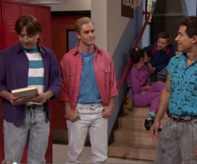 Jimmy Fallon Reunion at Bayside with Saved By the Bell cast