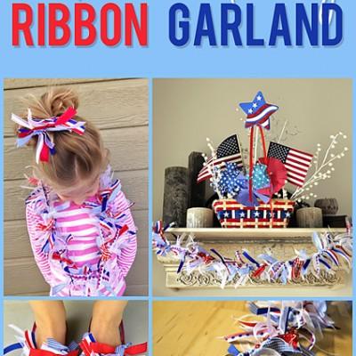 DIY 4th of July Ribbon Garland