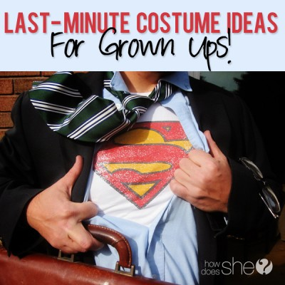 Last minute costume ideas for the grownups!