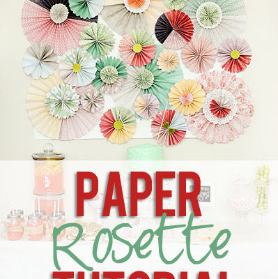 Chic Paper Rosette Backdrop Tutorial